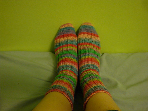 Socks, completed.