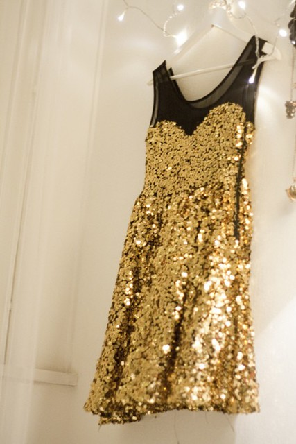 gold sparkle dress