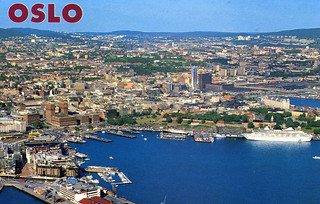 Oslo from the Air (1999 Postcard)