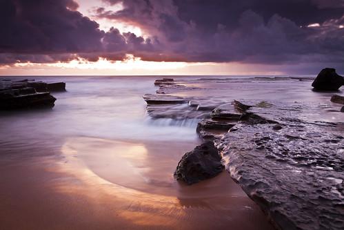 無料写真素材, 自然風景, 海, ビーチ・海岸, 朝焼け・夕焼け, 風景  オーストラリア