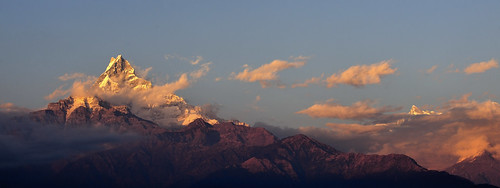 travel nepal sunset nikon tripod fx himalayas dhampus annapurnarange d700
