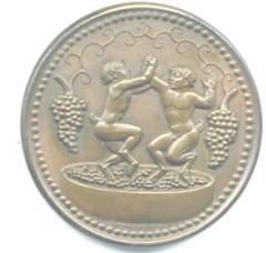 Manship Dionysus medal reverse