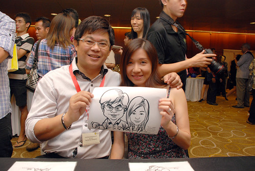 Caricature live sketching for SCORE – Yellow Ribbon Celebrating 2nd Chances 2011 - 6