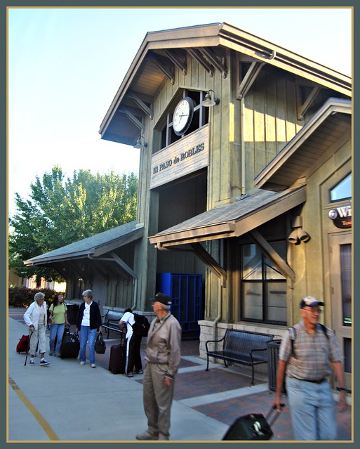 Amtrak Coast Starlight 14: Paso Robles Station California From