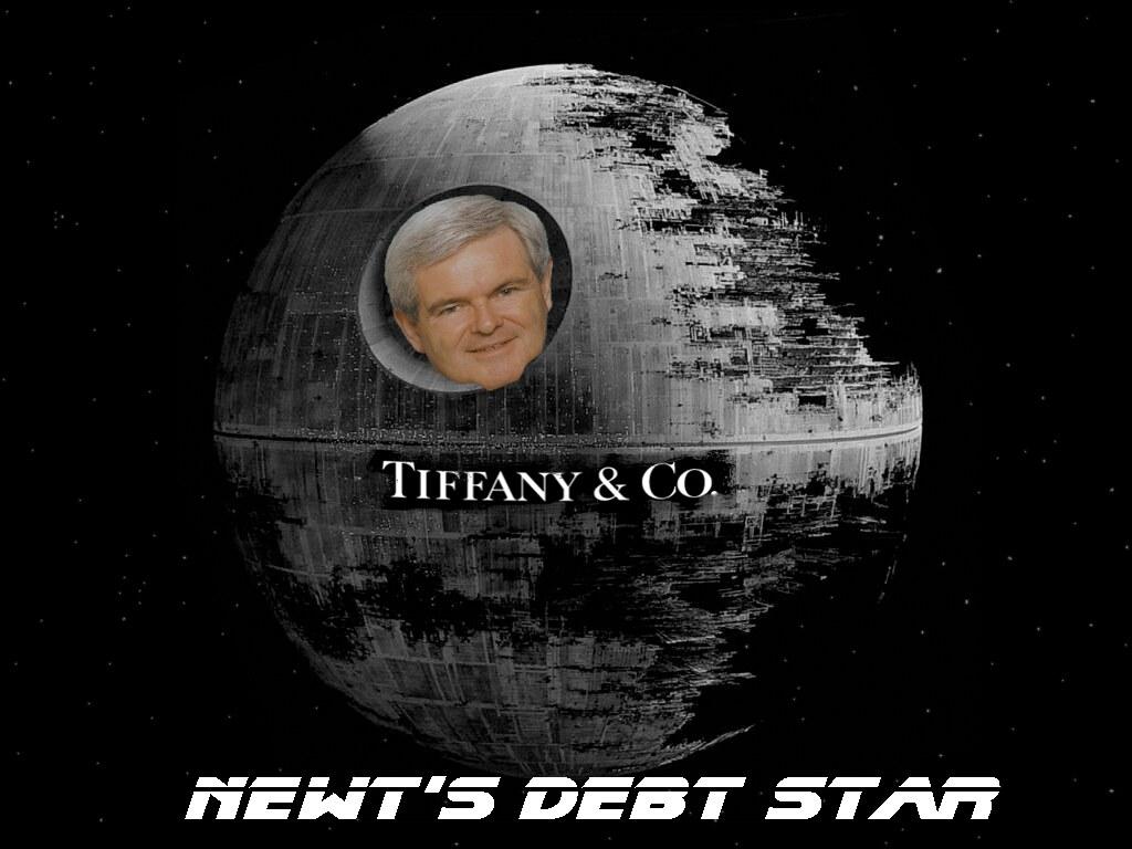 NEWT'S DEBT STAR