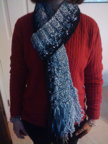 Fade to black scarf