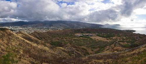 Diamond Head crater, O'ahu, Hawai'i (panorama)