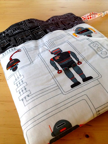 Robot drawstring bag