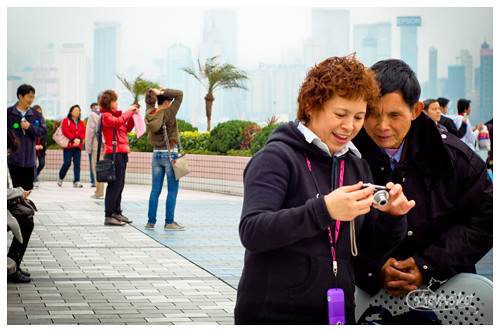 chinese tourists at avenue of stars