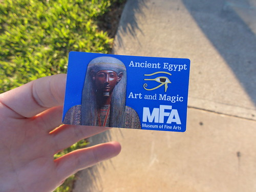 Sticker to the Ancient Egyptian Art Exhibit