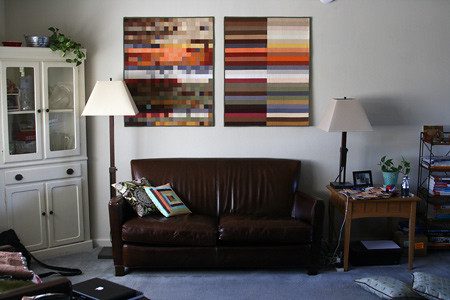 The Alley, versions I and II, hanging in our living room