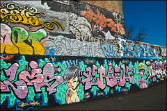 Lots of graffitis street art