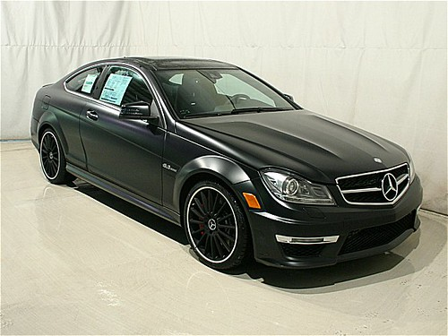 2012 mercedes benz c63 amg edition 1 designo magno night for Mercedes benz c63 amg black edition