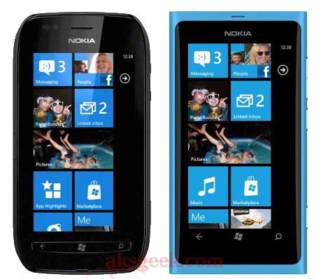 Nokia Lumia 710 and Lumia 800
