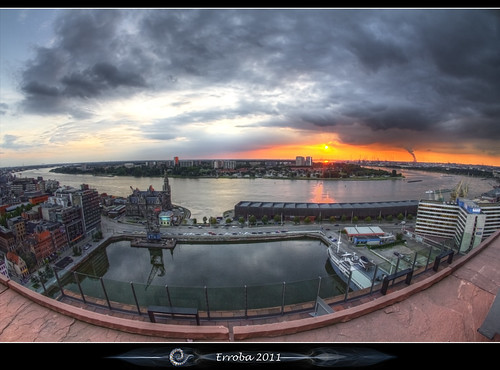 sunset sky clouds canon river mas belgium belgique harbour belgië sigma fisheye antwerp schelde erlend antwerpen anvers doel 10mm 60d museumaandestroom erroba robaye