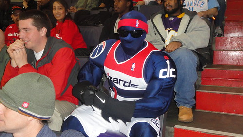 The Wizards mascot