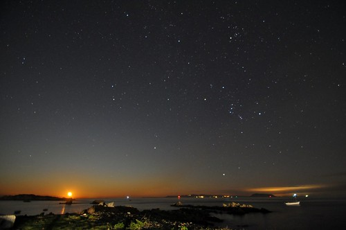 sky sun moon sunrise stars bordeaux moonrise midnight rise mimic guernsey vast
