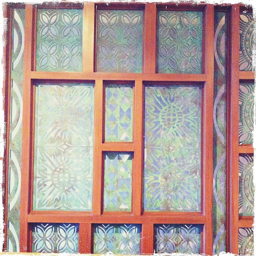 patterns in room divider at the Turtle Bay Resort Hawaii
