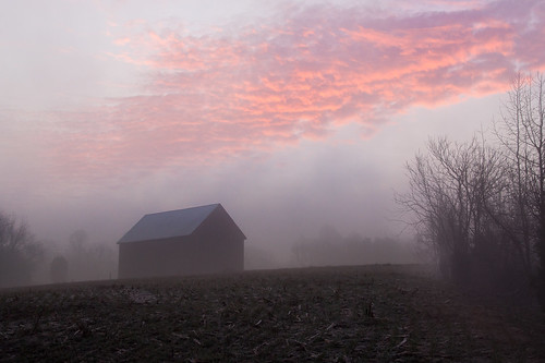 morning fog clouds barn rural sunrise dawn maryland calvert calvertcounty