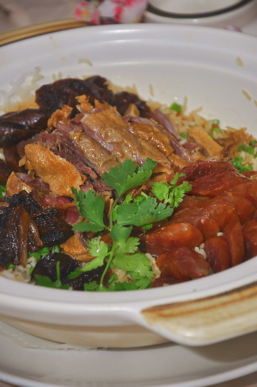 Claypot Rice with Waxed Meat
