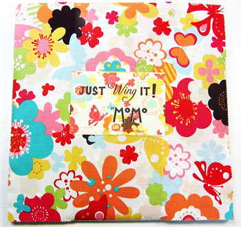 Friday's Fabric Giveaway -- Just Wing It layer cake from The Little Fabric Shop