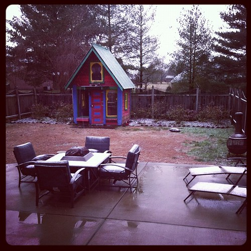 It's snowing in Tennessee!!! Doesn't take much to excite us. :)