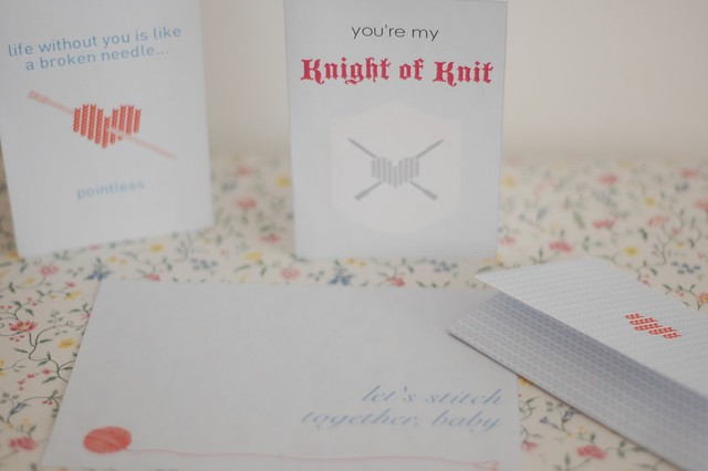 Knit Valentine's Cards