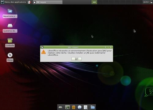 Erreur LibreOffice
