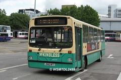 J946 MFT Dennis Dart Wright HandyBus. Buchanan Bus Station GLASGOW
