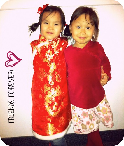 Lilah & Amelia - 3 year 'forever family' anniversary (these messy faces are at the Thai restaurant!)