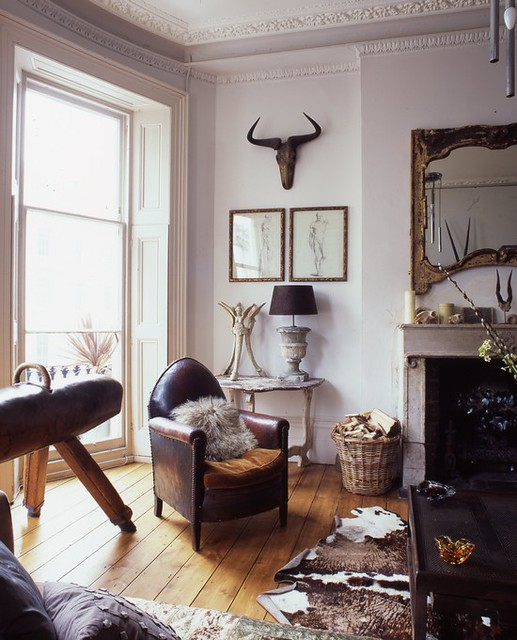 Rustic Decor Ideas For Modern Home: Alex MacArthur {eclectic Baroque Rustic Modern Living Room