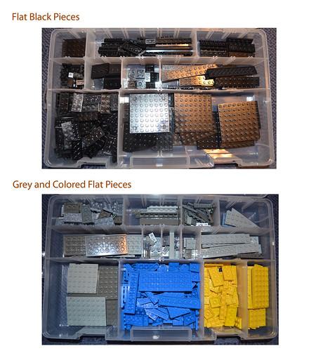 Flat Lego Boxes