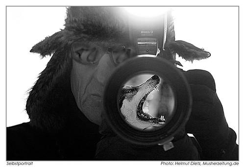 Selbstportrait-Helmut-Dietz-Husky-/Schlittenhundefotograf, Femundlopet 2012, Bielefeld