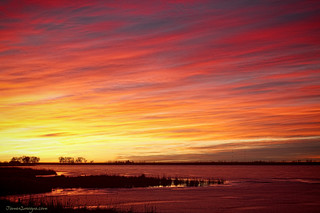 Sunrise over Union Reservoir in Longmont Colorado Boulder County