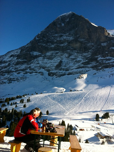 Eiger and picnic