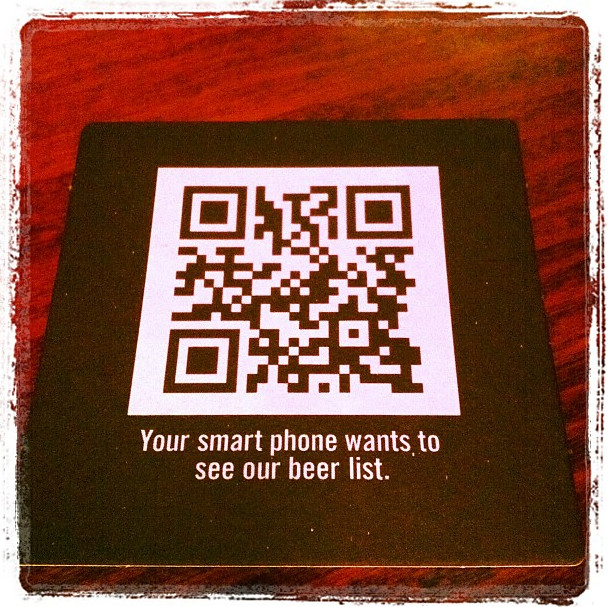Your smart phone wants to see our beer list