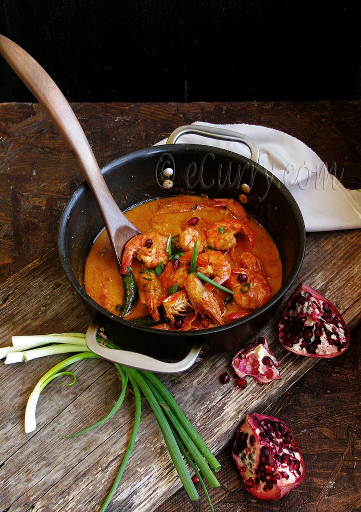 Shrimp with Pomegranate and Coconut Milk 8