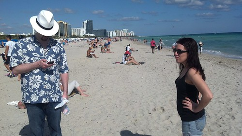 Daniel and Erin on South Beach