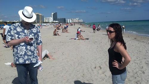 Daniel and Erin on South Beach
