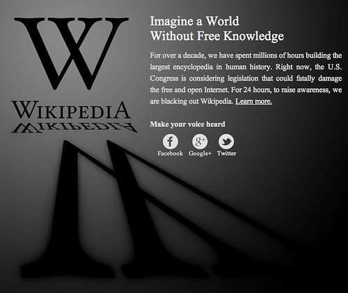 Wikipedia against SOPA