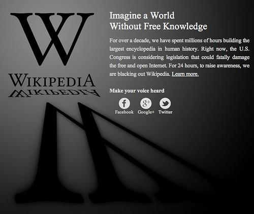 Wikipedia against SOPA