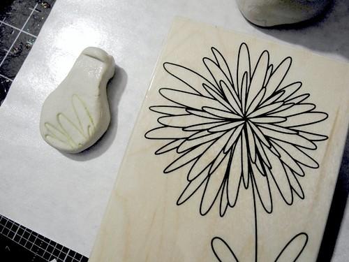 Stamped tiny vase