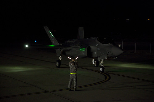 Lockheed Martin F-35A Performs First Night Flight