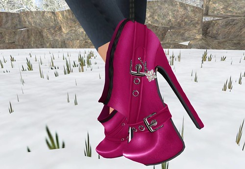 Angelina short boots (Magenta) - Luckyboard only members group by Cherokeeh Asteria