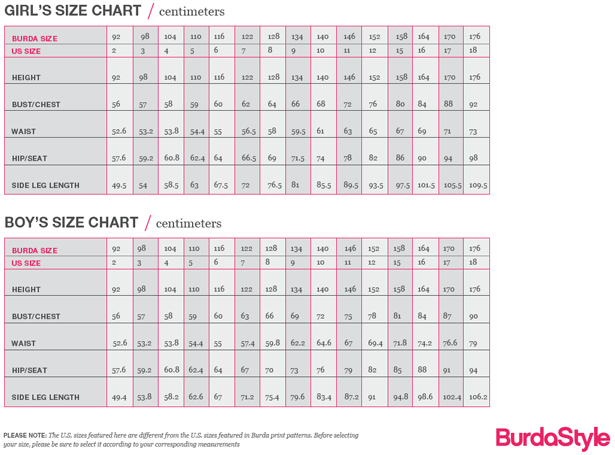 Site update check out our new size charts sewing blog