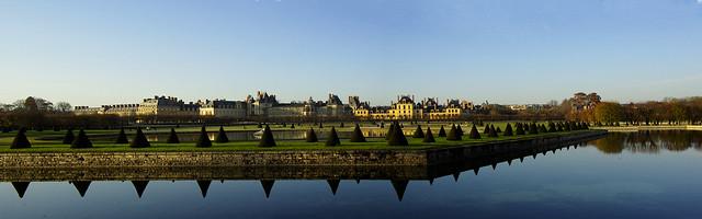 143 Chateau de Fontainebleau. Le Grand Parterre Panorama