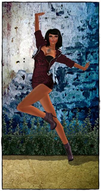 -X- Leopard Clubbing Dress&Jacket Black& Pink