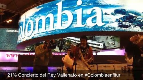 21% Concierto del Rey Vallenato en #Colombiaenfitur
