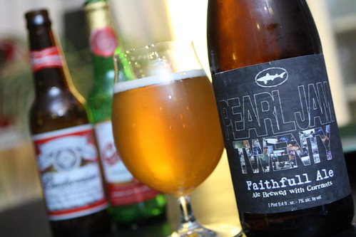 Dogfish Head Pearl Jam Twenty Faithfull Ale Instead of Either Budweiser
