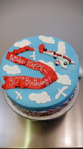 Airplane message cake by CAKE Amsterdam - Cakes by ZOBOT